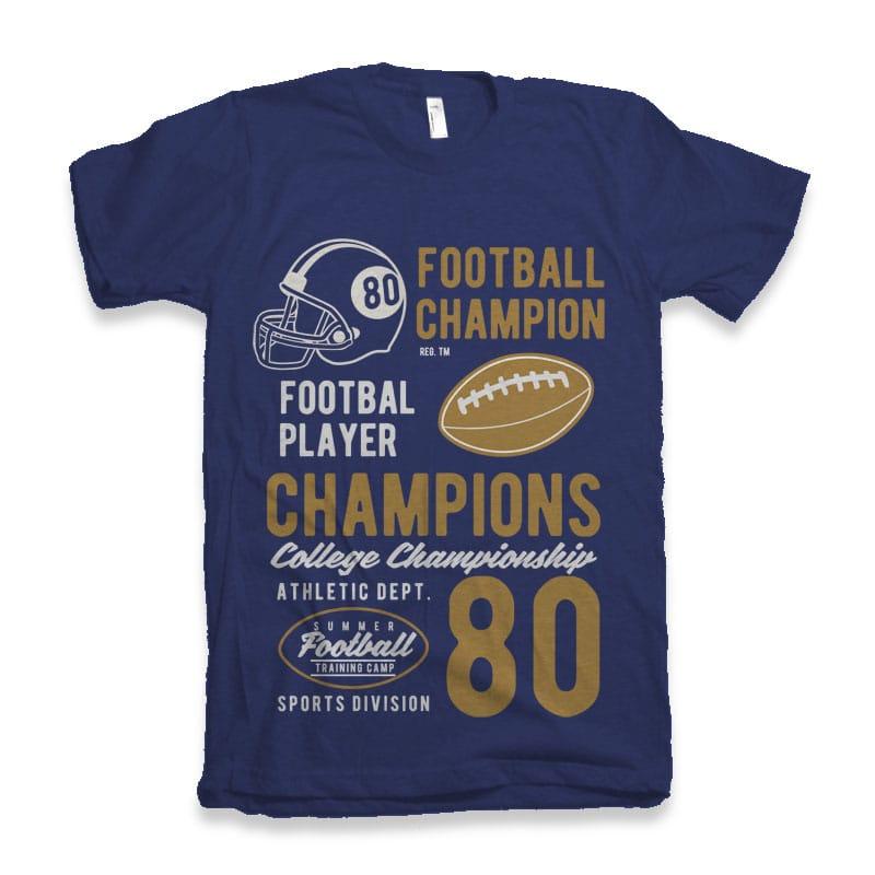 Football Champions tshirt design buy t shirt design