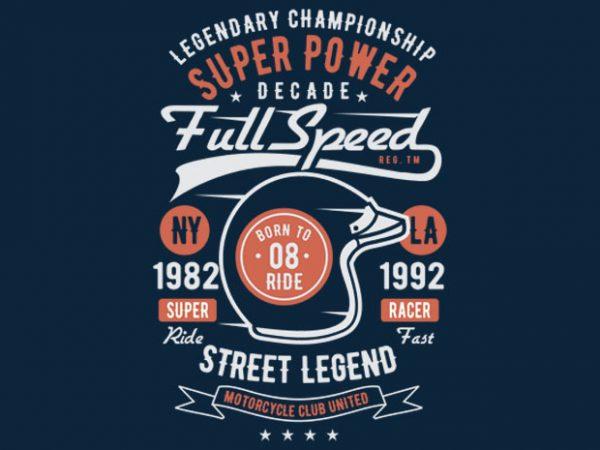 Full Speed Super Power t-shirt design buy t shirt design
