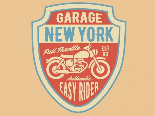 Garage New York BTD 600x450 - Garage New York tshirt design buy t shirt design