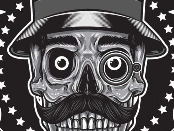 Gentleman Club - Skull buy t shirt design