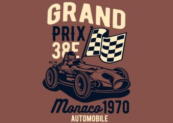 Grand Prix t shirt design template