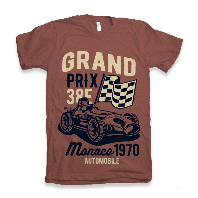 Grand Prix buy t shirt design