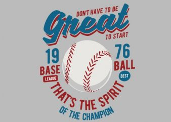 Great Baseball t shirt design template