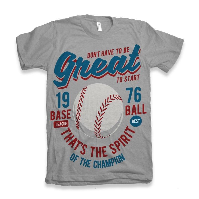 Great Baseball buy t shirt design