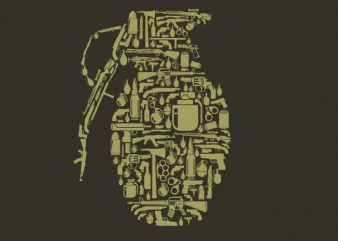 Grenade t shirt design template