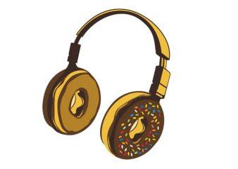 Headphone Donut buy t shirt design