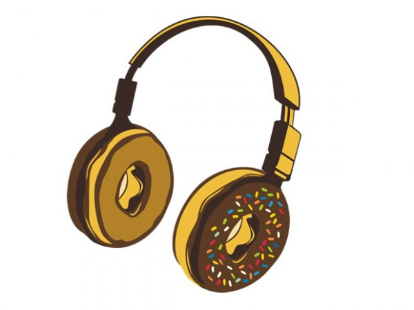 Headphone Donut graphic t shirt