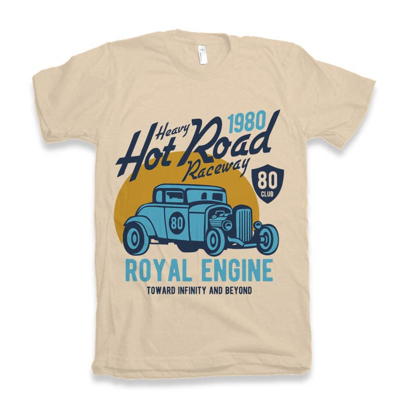 Heavy Hot Road tshirt design buy t shirt design