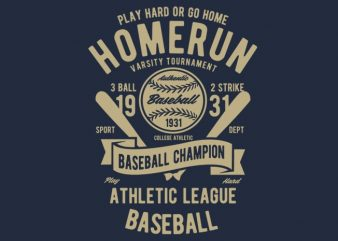 Homerun Baseball vector design buy t shirt design