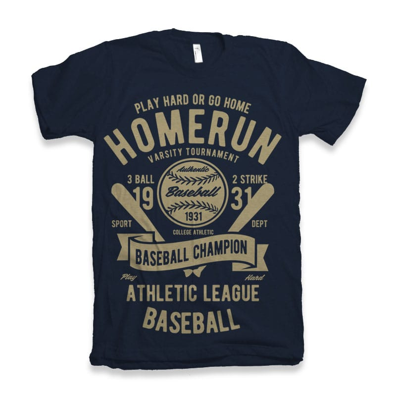 Homerun Baseball vector design buy t shirt design