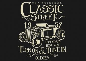 Hot Rod Classic buy t shirt design