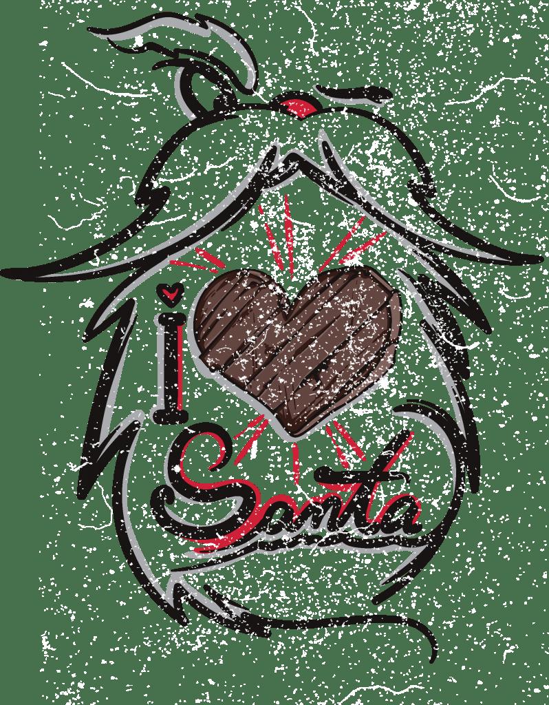 I love santa buy t shirt design