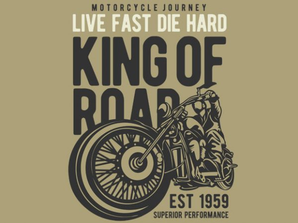 King Of Road buy t shirt design