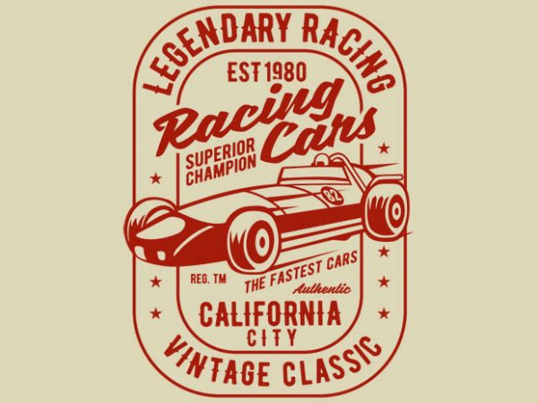 f7b84d606 Legendary Racing Cars tshirt design- Best T-shirt Design