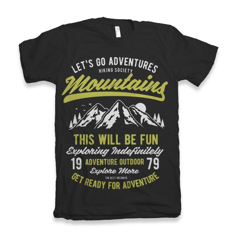 Let_s Go Adventure vector tshirt design buy t shirt design
