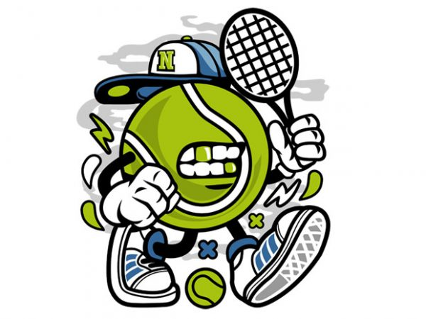 Let's Play Tennis t shirt vector graphic