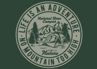 Life Is An Adventure tshirt design buy t shirt design