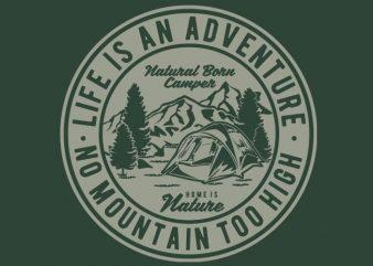 Life Is An Adventure tshirt design t shirt vector