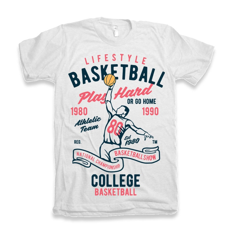 Life Style Basketball t-shirt design buy t shirt design