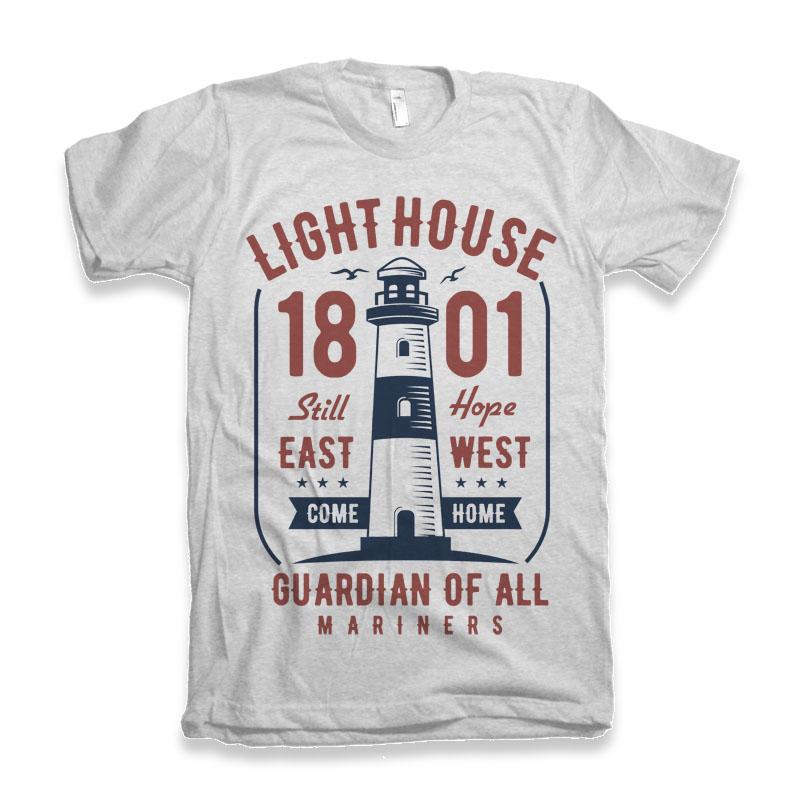Light House t-shirt design buy t shirt design