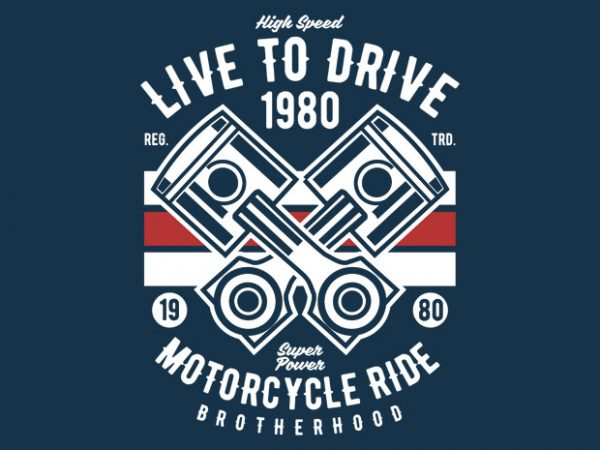 Live To Ride 1980 BTD 600x450 - Live To Ride 1980 t-shirt design buy t shirt design