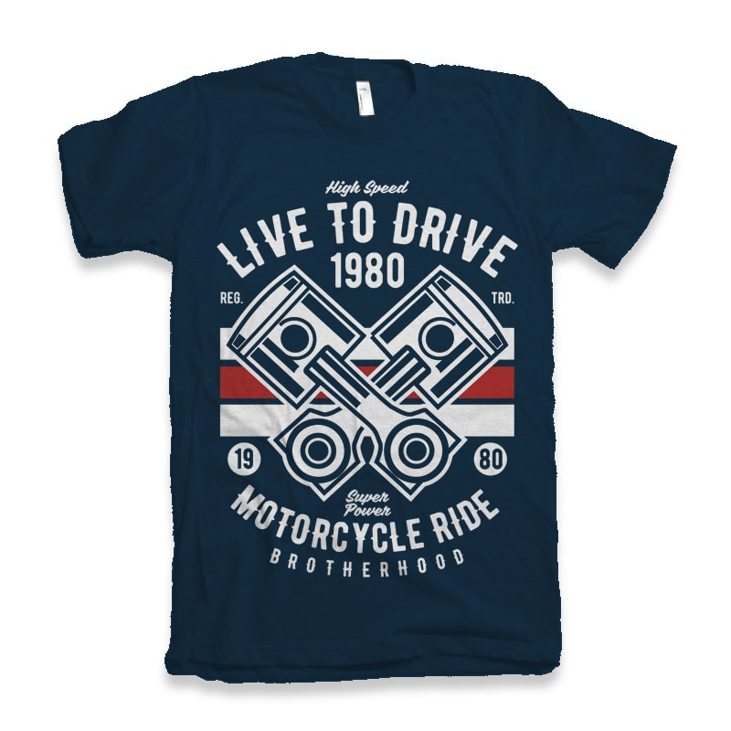 Live To Ride 1980 t-shirt design buy t shirt design