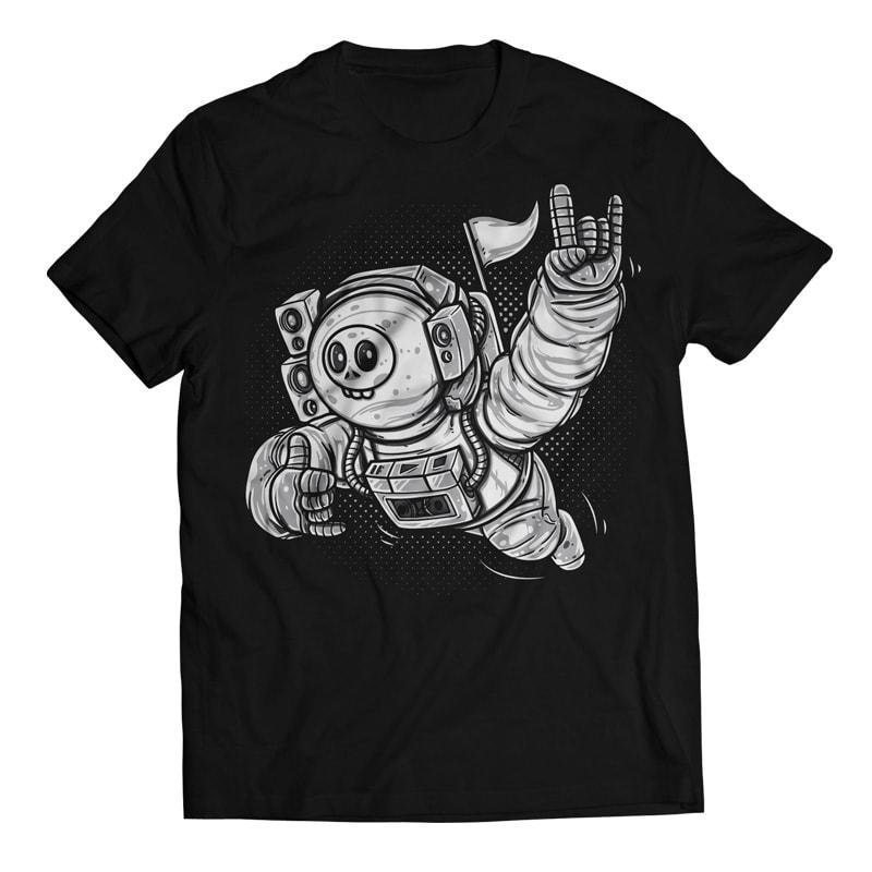 Lost in Space - Skull Astronaut buy t shirt design
