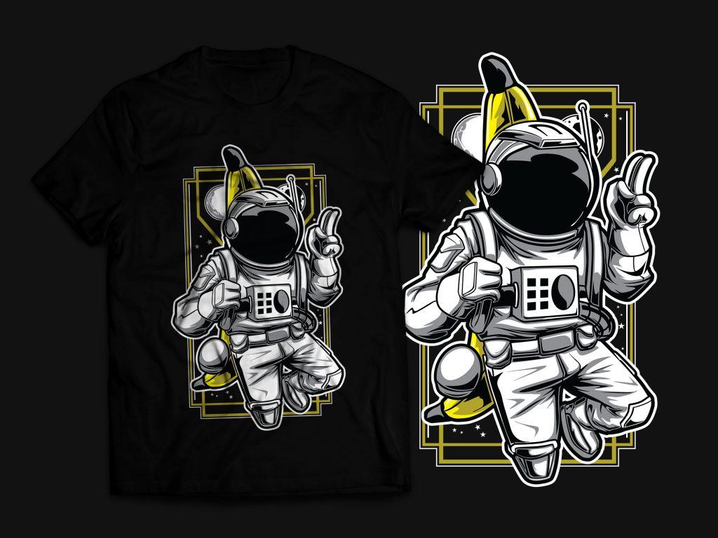 Bananaut - Astronaut & Banana T-Shirt Design buy t shirt design