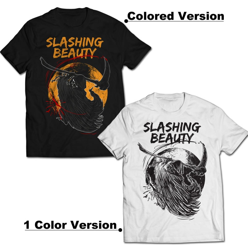 Slashing Beauty - Grim Reaper buy t shirt design