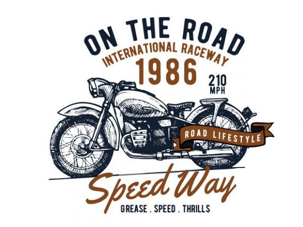 motorcycle tshirt design