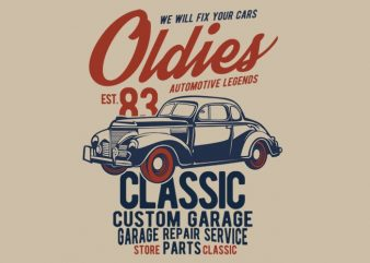 Oldies t shirt design online