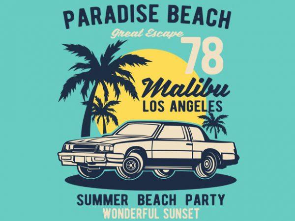 Paradise Beach buy t shirt design
