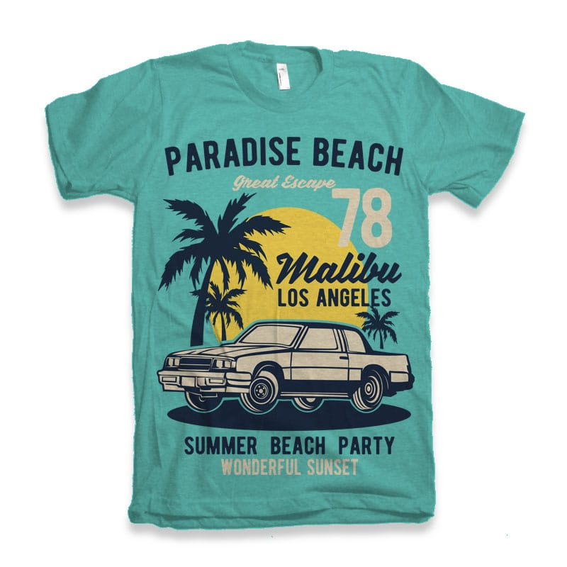 88af1dabf6ea19 Paradise Beach- Best T-shirt Design