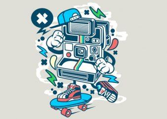 Polaroid Skater buy t shirt design