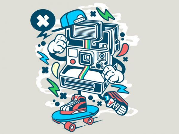 Polaroid Skater buy t shirt design
