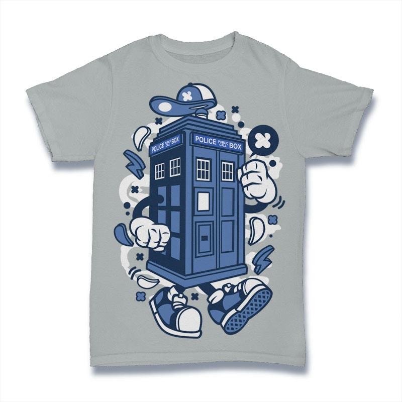 Police Box buy t shirt design