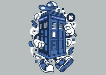 Police Box buy t shirt design