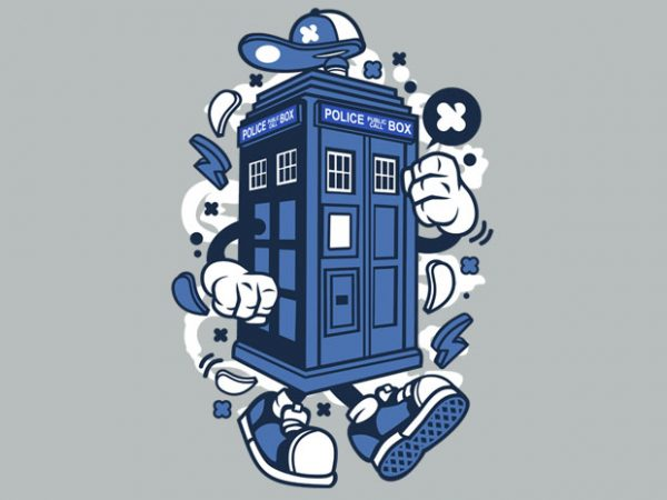 Police Box t shirt illustration