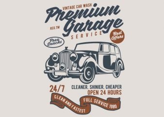 Premium Garage buy t shirt design