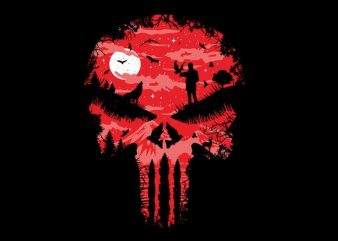 Red Night Skull buy t shirt design