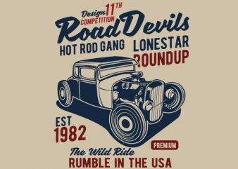 Road Devils t shirt vector