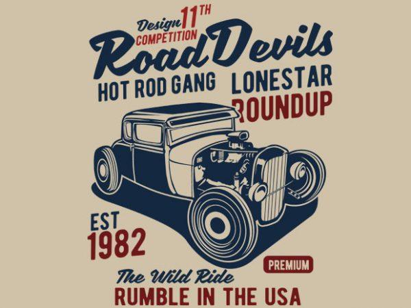 Road Devils t shirt design online