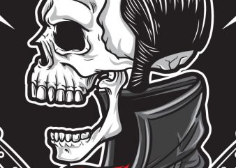 Rockabilly Skull t shirt design online
