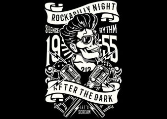 Rockabilly Night buy t shirt design