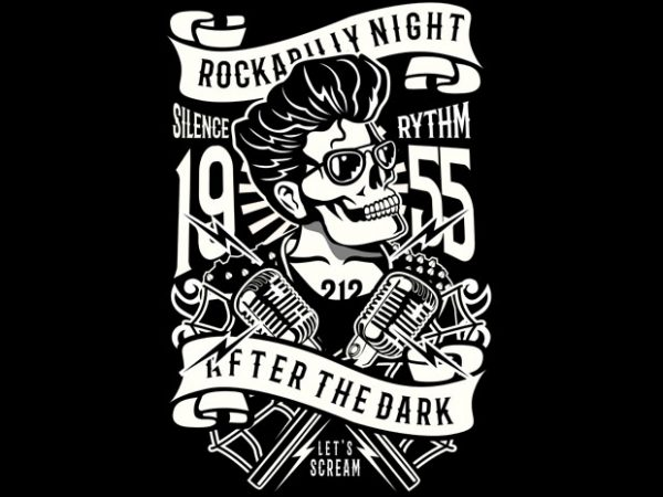 Rockabilly Night t shirt design online