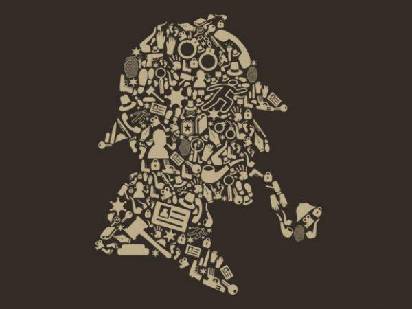 Sherlock Holmes t shirt template vector