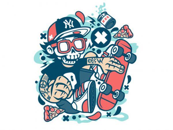 Skateboard Skull buy t shirt design