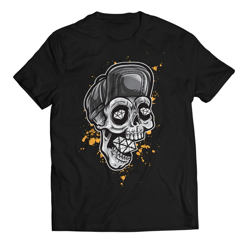 Skull and Diamonds buy t shirt design