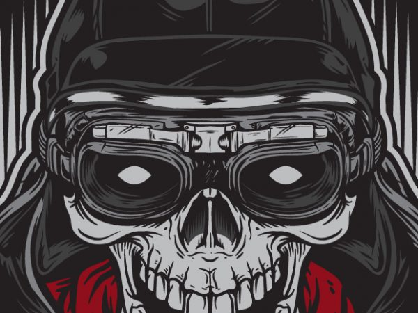Skull Racer 600x450 - Skull Racer - Racing buy t shirt design