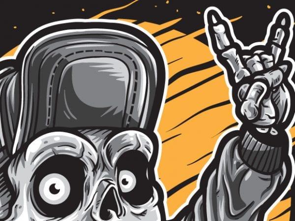 Skater Skull Boy buy t shirt design